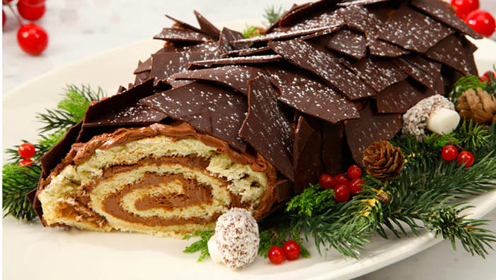 Dark Chocolate Buche de Noel